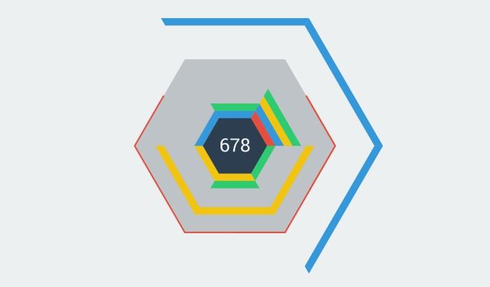 六边形方块游戏 hextris